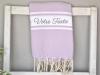Serviette Fouta plate à Personnaliser Violet Orchidée
