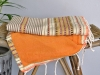 Fouta Doublée Arabesque Taupe / Marron / Jaune / Orange éponge Melon - Plate