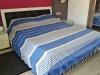 Fouta Plaid XXL plate Bleu Grec / Ivoire