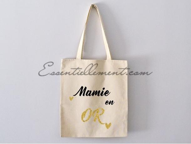 """Sac Tote bag """"Mamie en or"""""""