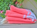 Fouta Plate Rose Fluo