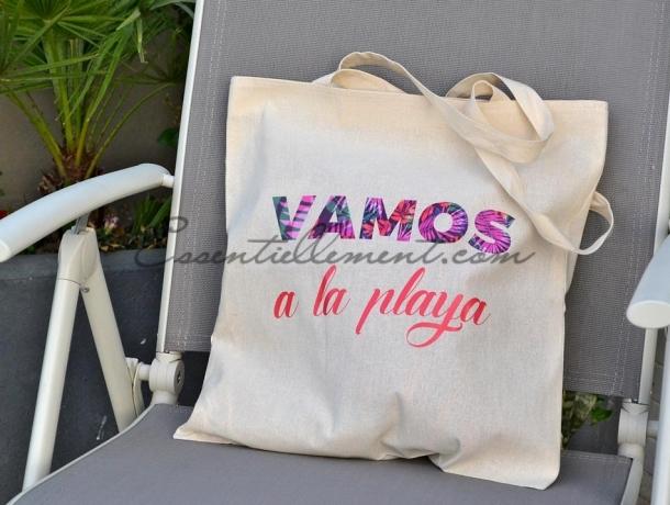 """Sac Tote Bag """"Vamos a la Playa"""""""