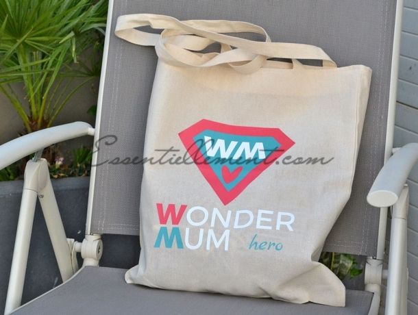 """Sac Tote bag """"Wonder Mum"""""""