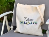 "Sac Tote Bag ""Happy Holidays"""