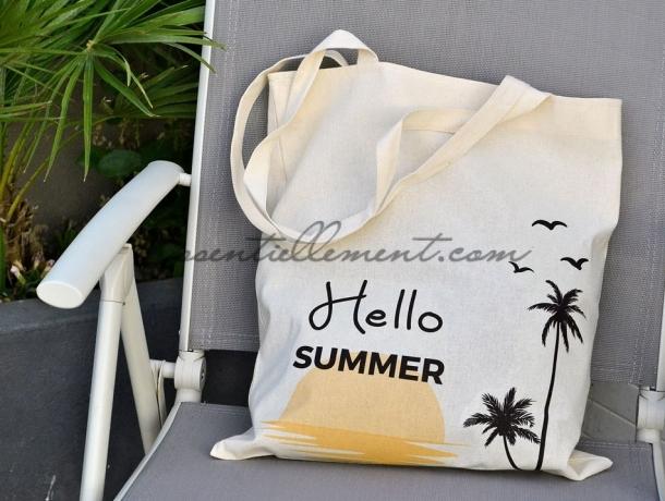 "Sac Tote Bag ""hello summer"""