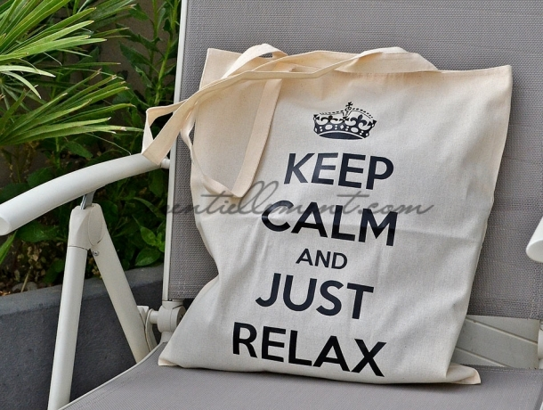 "Sac Tote bag ""Keep calm and Just Relax"""