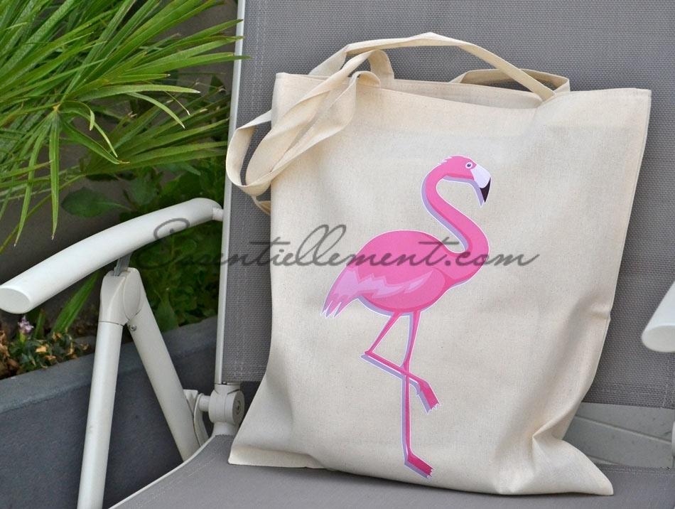 sac tote bag flamant rose pas cher. Black Bedroom Furniture Sets. Home Design Ideas