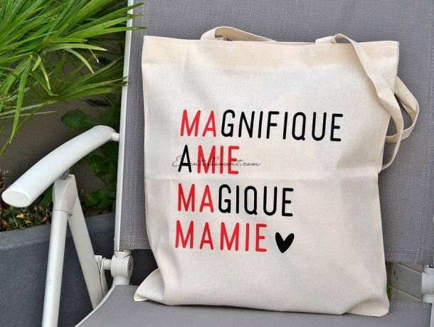 """Sac Tote bag """"Magique Mamie"""""""