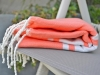 Fouta plate Orange Saumon