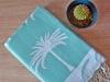 Fouta Jacquard Palmier Vert Tropical