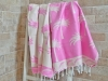 Fouta Jacquard Palmier Pinky Rose