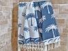Fouta Jacquard Palmier Bleu Jean