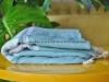 Serviette Fouta Plate Bleu Nuage