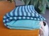 Fouta Plate Bleu Aqua rayée Bleu Grec